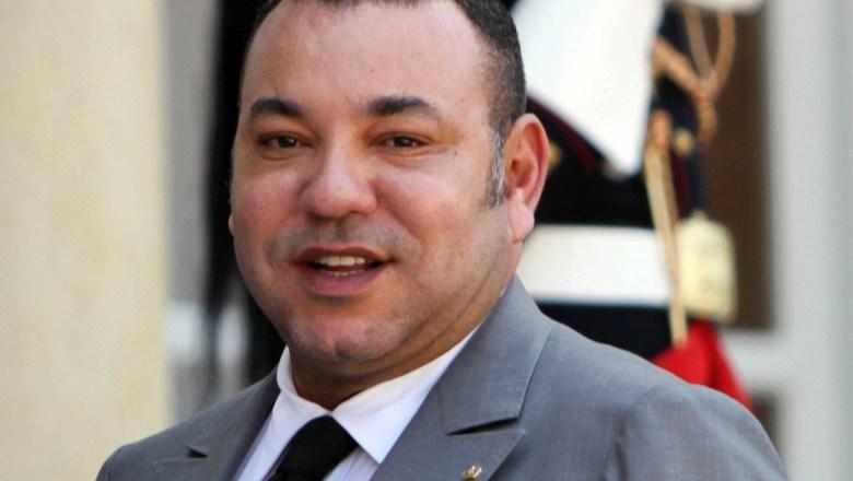 Le Roi du Maroc Mohammed VI quitte le Palais de l Elysee