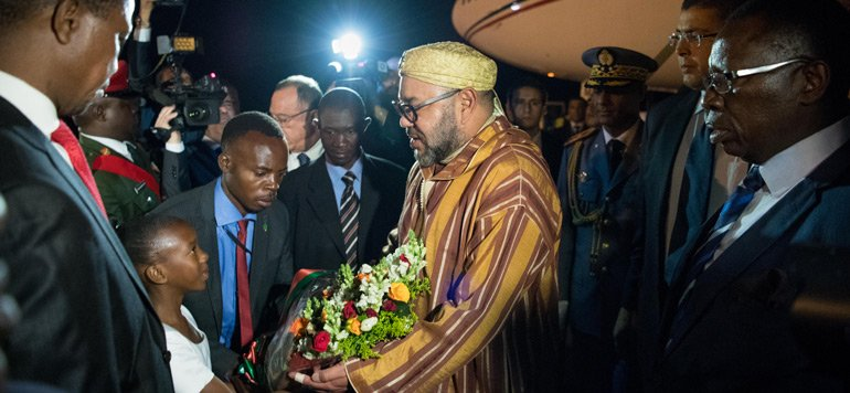 King Mohammed VI Arrives in Lusaka for Official Visit to Zambia